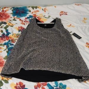 Black and gray sequined top